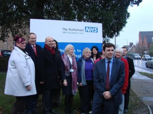 Shadow Health Secretary stops off to support Rotherham